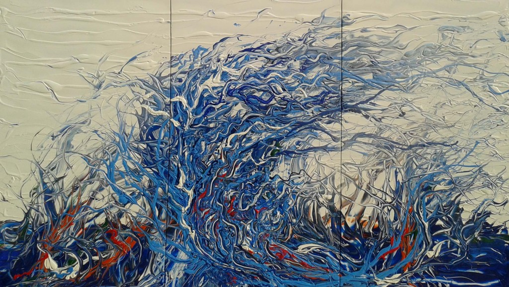 Gemälde WIND, Friedhelm Meinaß 2015