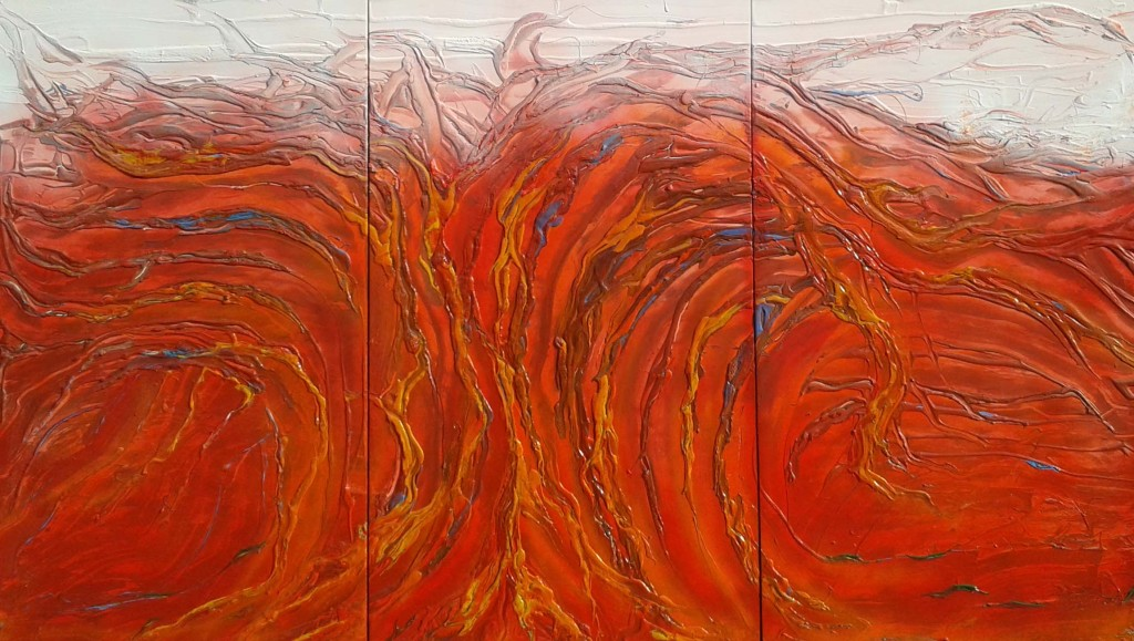 Gemälde FIRE, Friedhelm Meinaß 2015