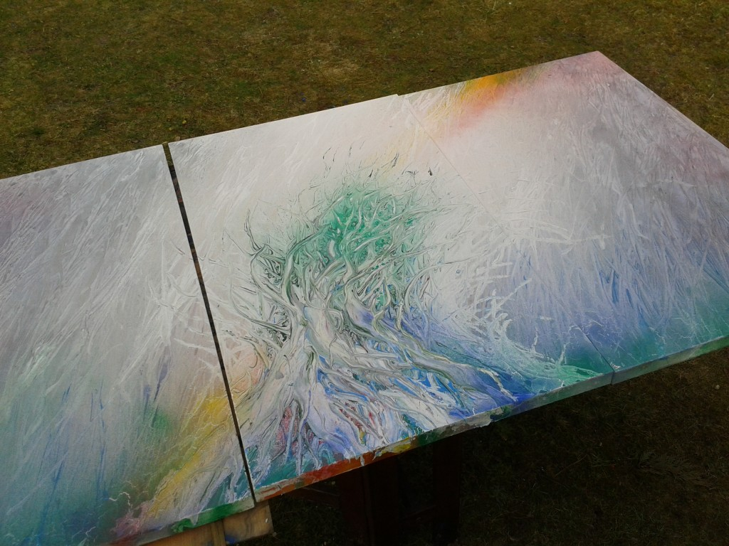 Maler Friedhelm Meinaß: Ein Werk entsteht Bild 1