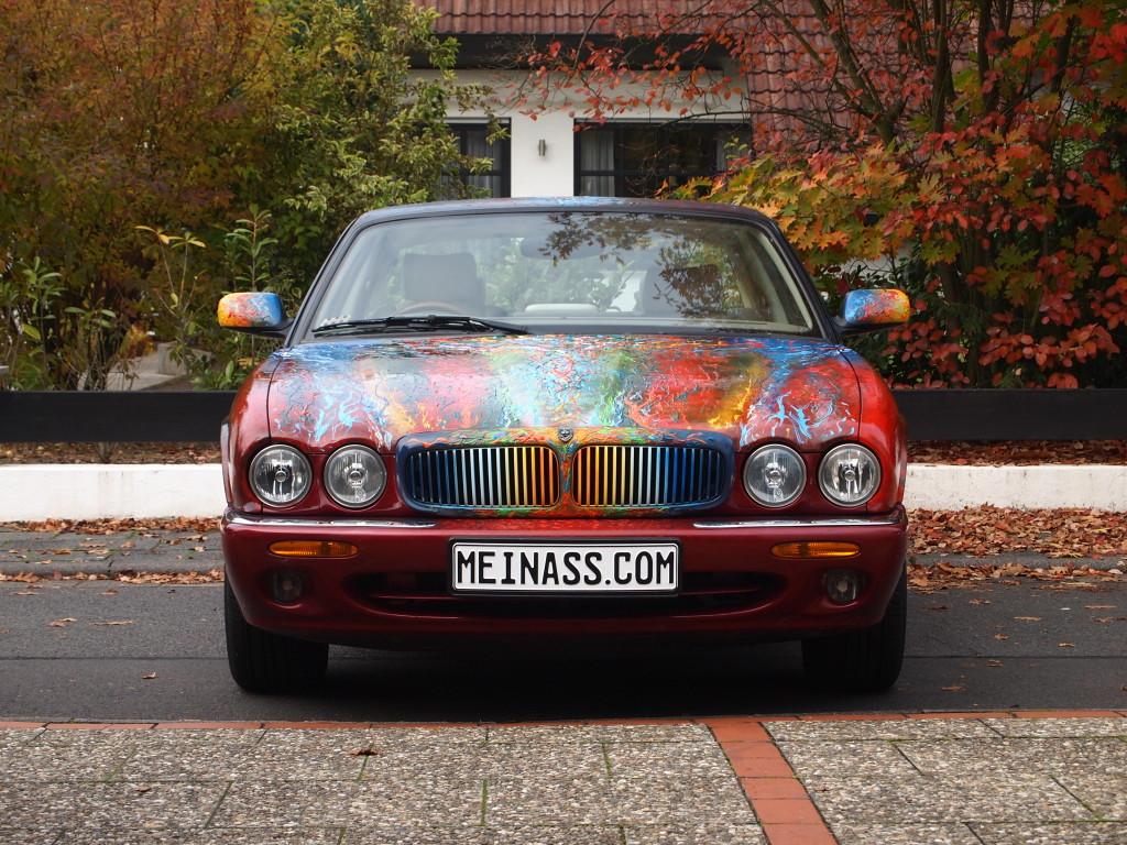 Künstler Friedhelm Meinaß: Jaguar CarArt