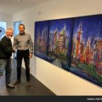 Frankfurt Skyline des Künstlers Friedhelm Meinaß